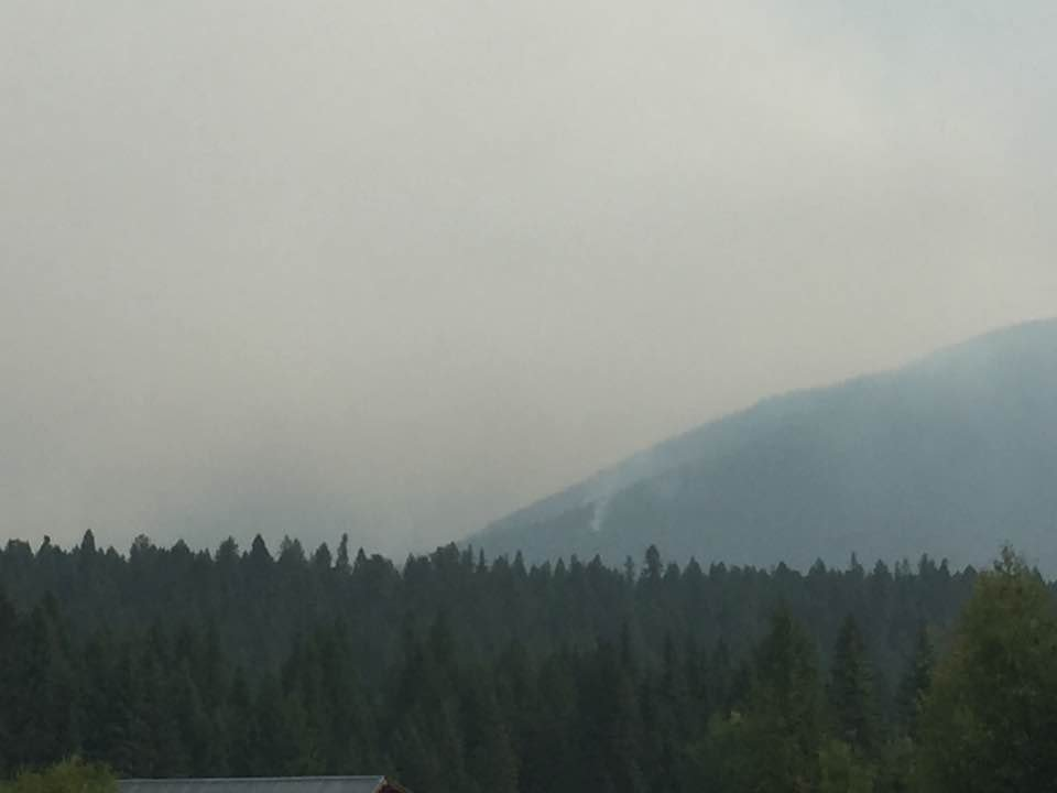 TheGibralter Ridge Fire was spakred by lightning on 8.7.17 (MTN News/Nicole Miller photo)