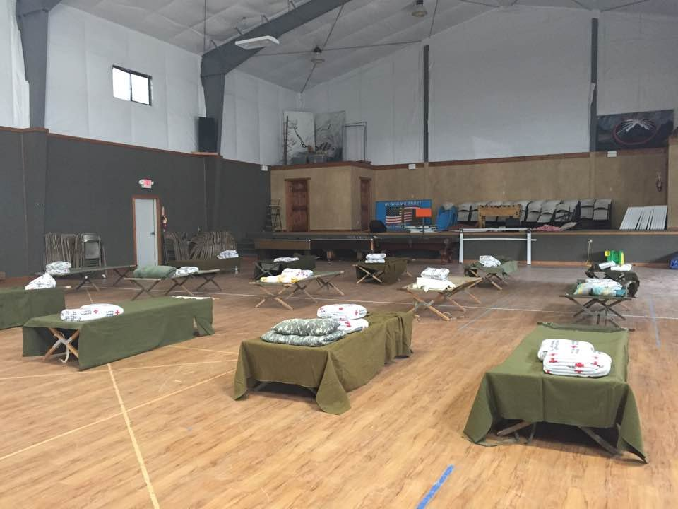 A shelter has been set up for evacuees at the Church of God in Eureka. (MTN News/Nicole Miller photo)