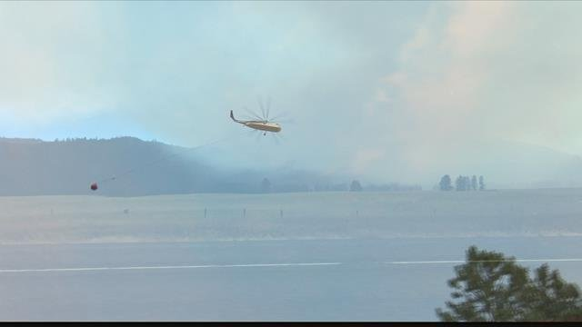 The Sunrise fire is burning 11 miles south and east of Superior. (MTN News photo)