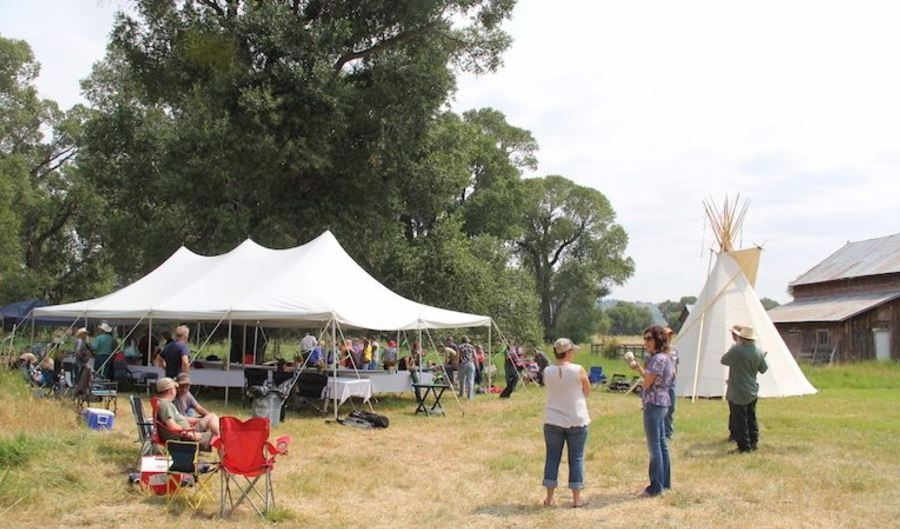 Descendants of Thomas and Mary Kent gathered last weekend a little east of Greycliff for a family reunion on the land their ancestors homesteaded in the 1870s. (Ed Kemmick/Last Best News)