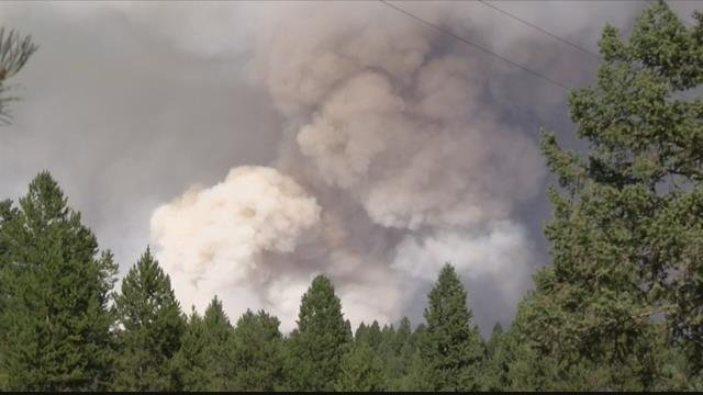 The Rice Ridge fire in Seeley Lake is one of the top concerns of firefighters. (MTN News photo)