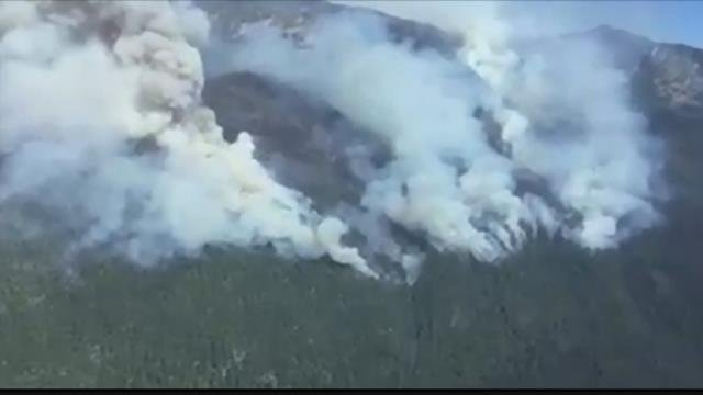 The lightning sparked Lolo Peak fire continues to burn 10 miles southwest of Lolo. (MTN News photo)