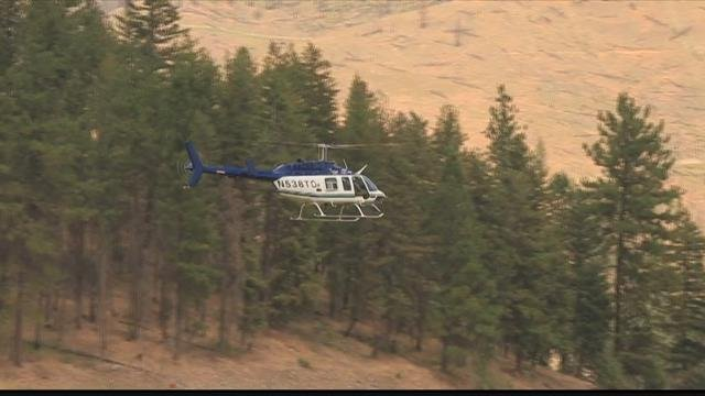 Inaccessible terrain is hindering the fight against the Lolo Peak fire. (MTN News photo)