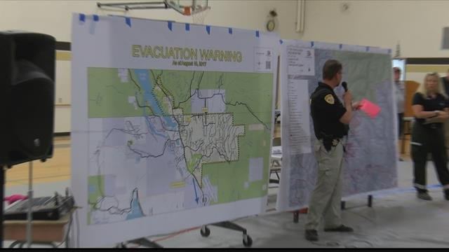 Pre-evacuation notices remain in effect along Highway 83 in and around Seeley Lake. (MTN News photo)