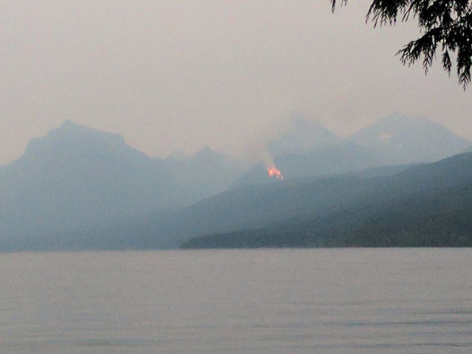 150 lightning strikes were reported in Glacier National Park on Thursday. (photo courtesy: Glacier NP)