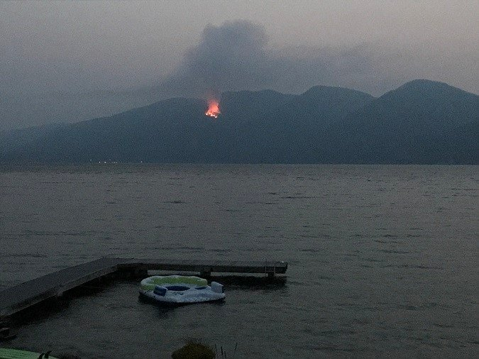 A pair of fires are burning in the Mission Mountains. (photo credit: Doreen Ratzburg)