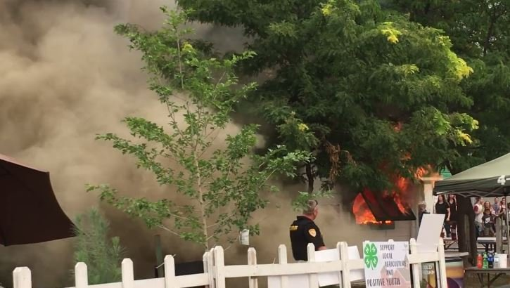 No injuries were reported as a result of the fire. (MTN News/Mark Thorsell photo)
