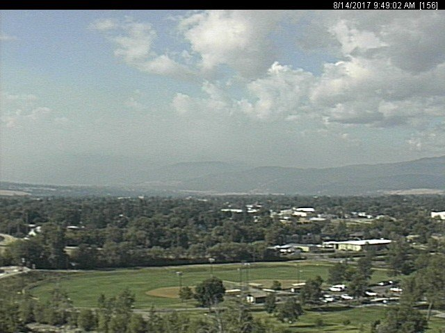 The view from the KPAX - St. Patrick's Hospital Eyecam on Monday morning.