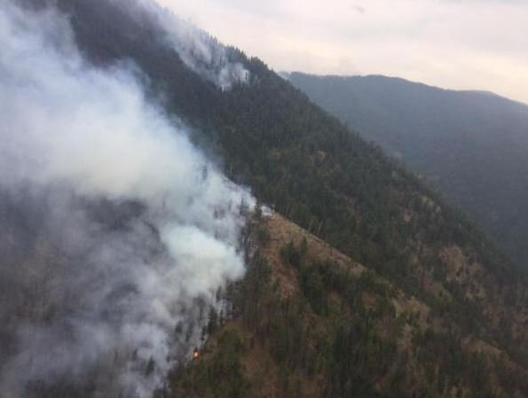 The Sunrise fire has forced evacuations as it burns near Superior. (inciweb.org photo)