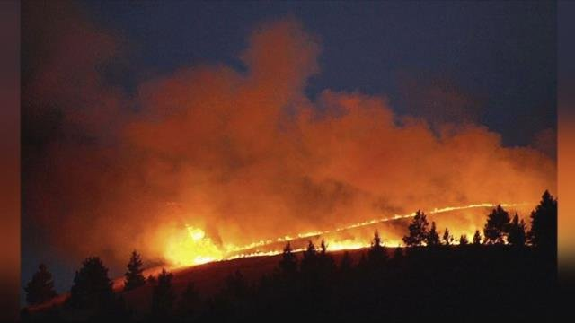 The blaze broke out in the Duncan Driver area on Monday evening. (photo credit: Black Coffee Roasters)