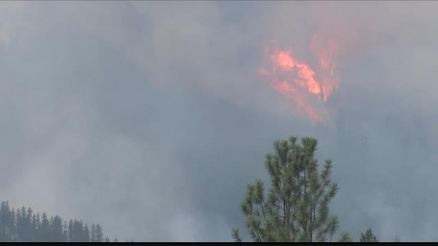 The 10,000 acre wildfire has forced mandatory evacuations along a section of Hihghway 12 west of Lolo. (MTN News photo)