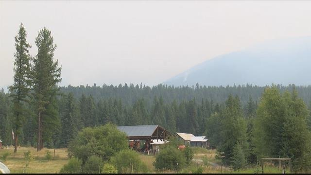 Evacuations have been lifted near the blaze that's burning outside of Eureka. (MTN News photo)