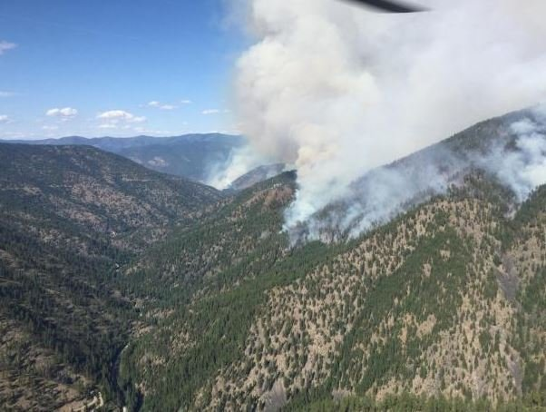 The Sunrise fire has forced evacuations in Mineral County. (inciweb.org photo)