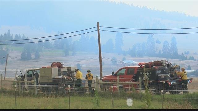 Upwards of 1,500 homes are under some for of evacuation order in the area of the Lolo Peak fire. (MTN News photo)