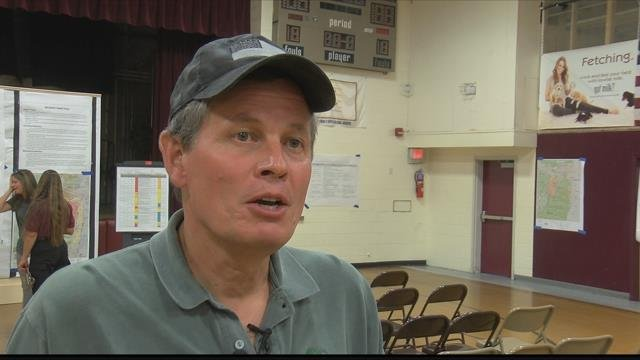 Sen. Steve Daines (R-MT) was briefed on the ongoing efforts to battle the Lolo Peak fire. (MTN News photo)