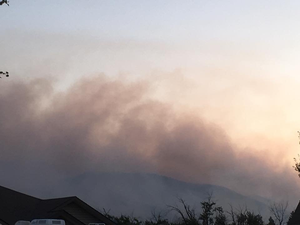 The Lolo Peak fire as seen on 8.19.17 from Lolo. (MTN News/Mark Thorsell photo)