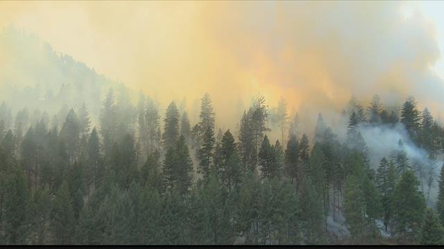 The Lolo Peak fire is burning between Lolo and Florence. (MTN News photo)