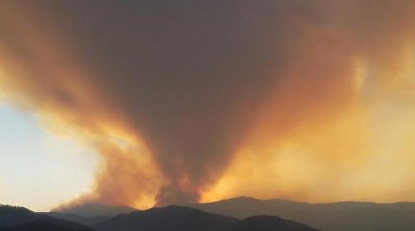 The Sunrise fire continues to burn 11 miles outside of Superior in Mineral County. (inciweb.org photo)