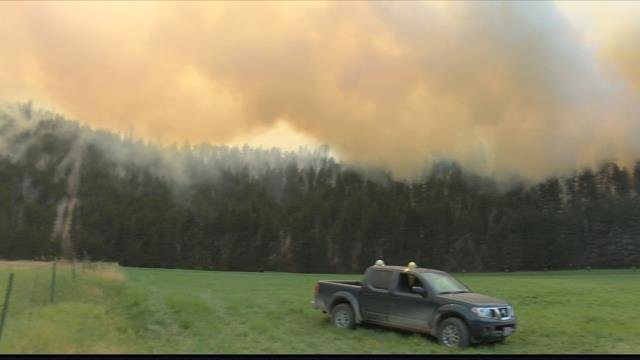 The Lolo Peak fire continues to burn between Lolo and Florence in the Bitterroot Valley. (MTN News photo)
