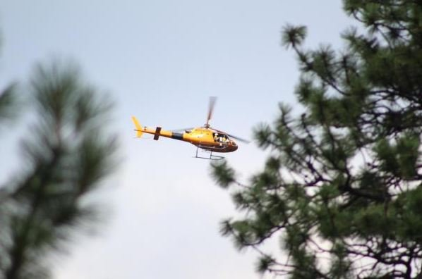 The Gibralter Ridge fire is burning sevenmiles east of Eureka. (inciweb.org photo)