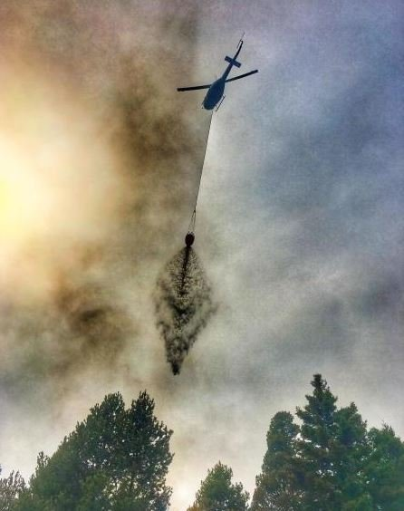 The Sapphire Complex fire is burning approximately 25 miles south-southeast of Missoula in the Rock Creek drainage. (inciweb.org photo)