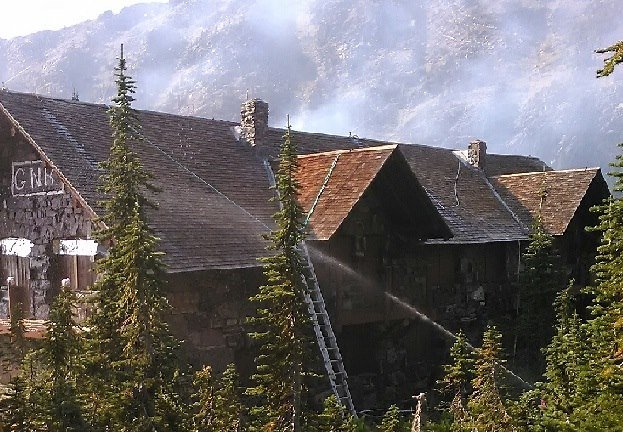 Sperry Chalet burns down in Sprague Fire