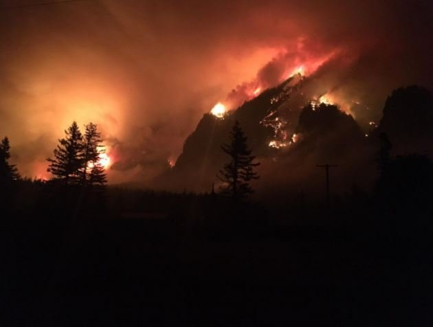 The Eagle Creek fire burned in the Columbia River Gorge in 2017. (inciweb.org photo)