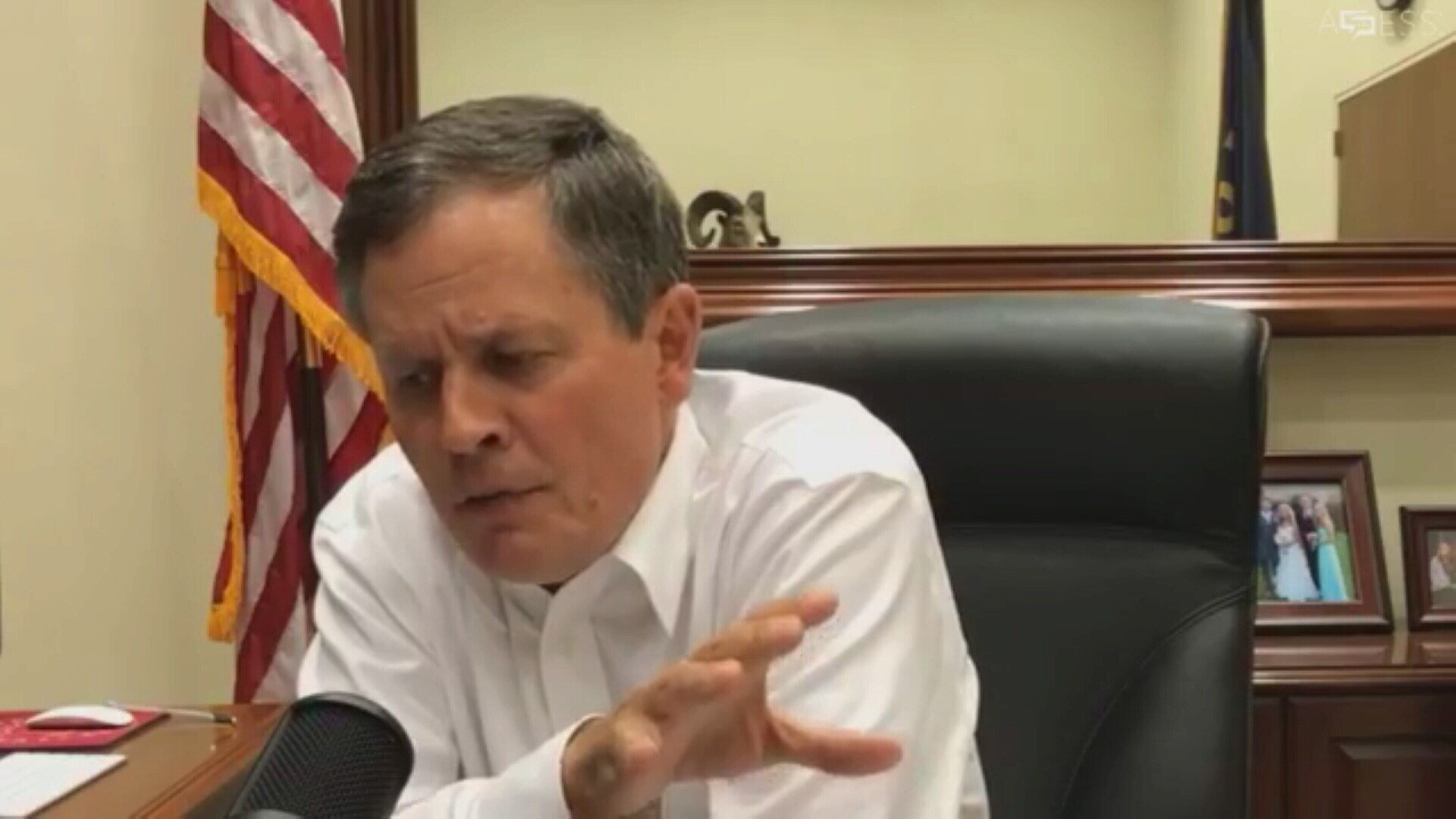 Sen. Steve Daines, (R-MT), focused on fires and forest management during a teletownhall meeting on Wednesday night.