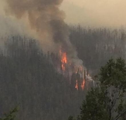 Spot fires in Carpp Creek drainage on Sept. 12. (inciweb.org photo)
