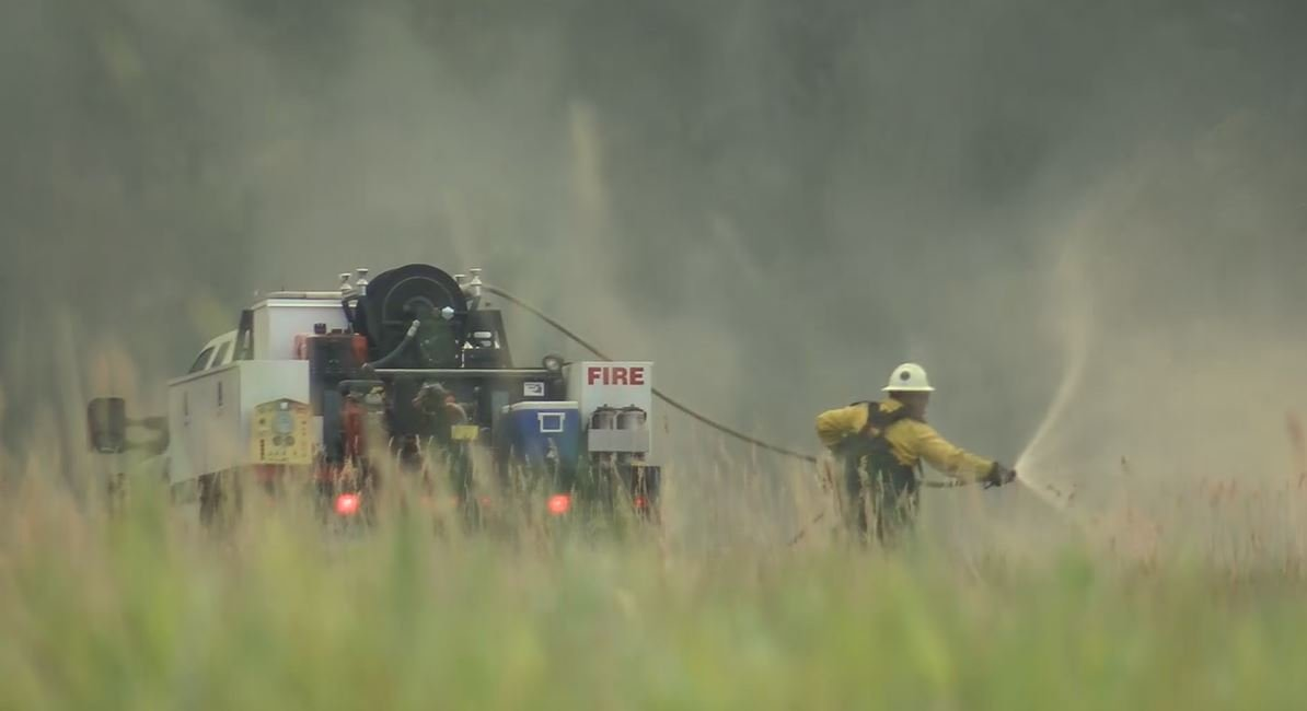 Fire crews will now face different but equally as harsh conditions as they saw before. (MTN News photo)