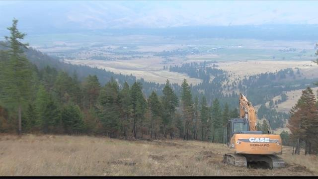 Crews are had at work restoring areas near and around the Lolo Peak fire. (MTN News photo)