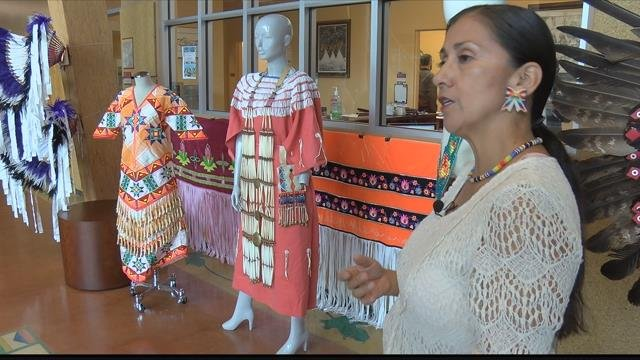 Michelle Guzman, an academic advisor at the Payne Native American Center, says each outfit reflects tribal representation and history but also the personality of the man or woman wearing the regalia.