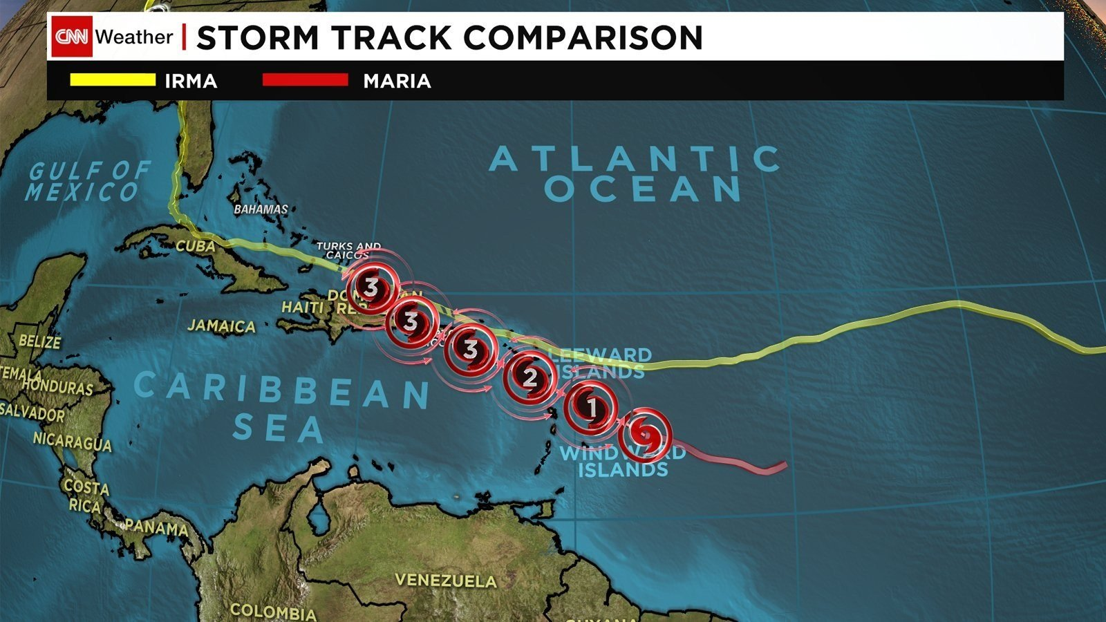 Hurricane Maria is forecast to rapidly strengthen over the next two days as it takes aim at Caribbean islands devastated by Hurricane Irma just days ago. (CNN image)