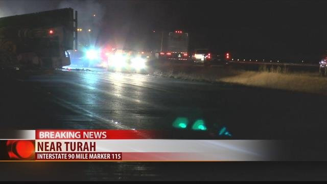 No one was hurt after multiple accidents shut down both lanes of Interstate 90 near Turah Wednesday evening.