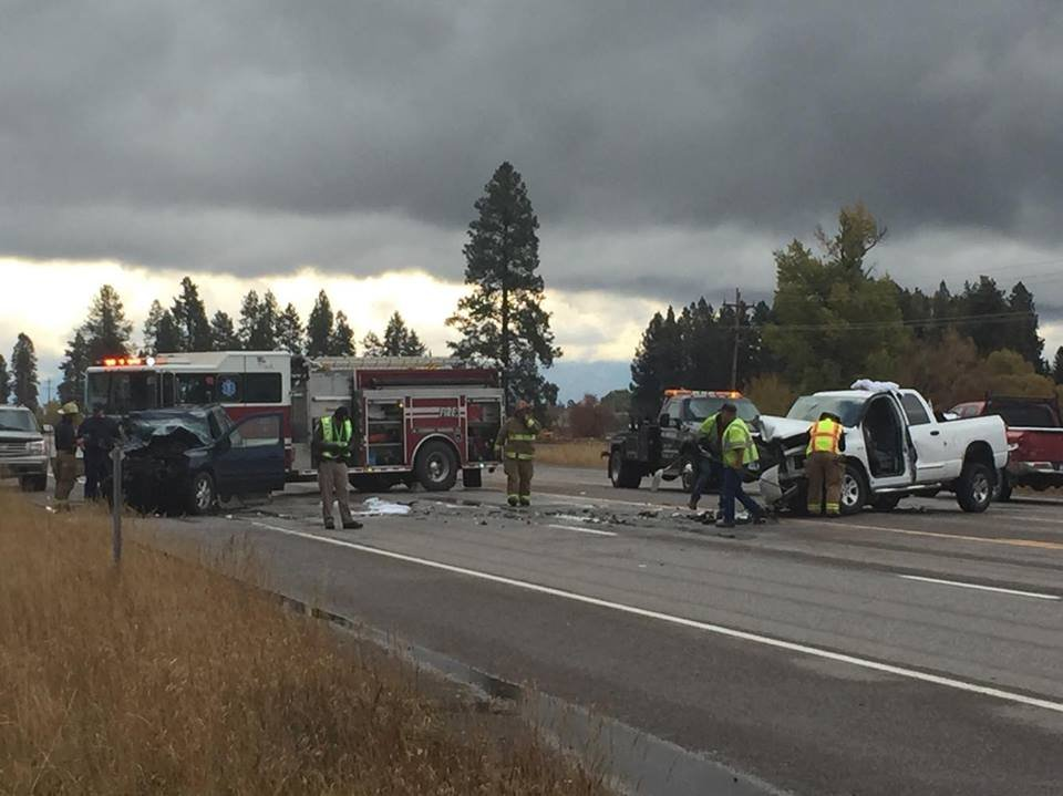 The accident happened on Oct. 13 on U.S. Highway 2 near Rose Crossing. (Jack Ginsburg/MTN News photo)