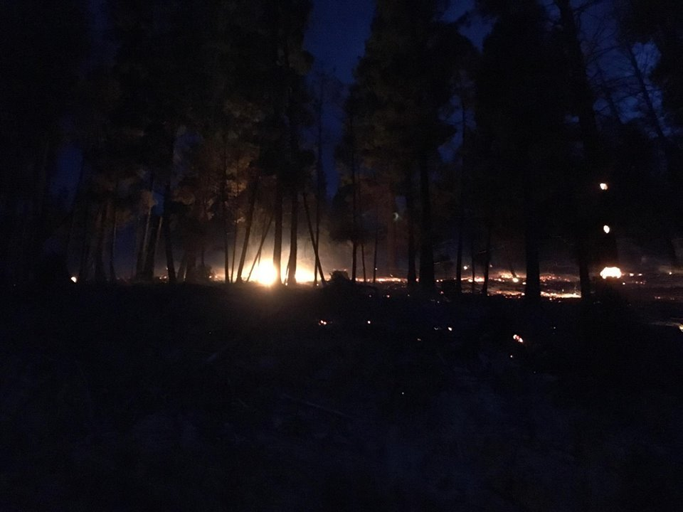 A fire on Blacktail Mountain is burning 40-50 acres. (photo credit: Somers Lakeside Fire Dept.)