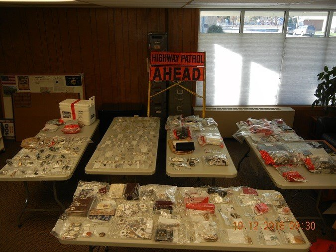 Evidence from MHP Adjudicated Cases $1.5 million of stolen goods. (photo credit: Montana Highway Patrol)