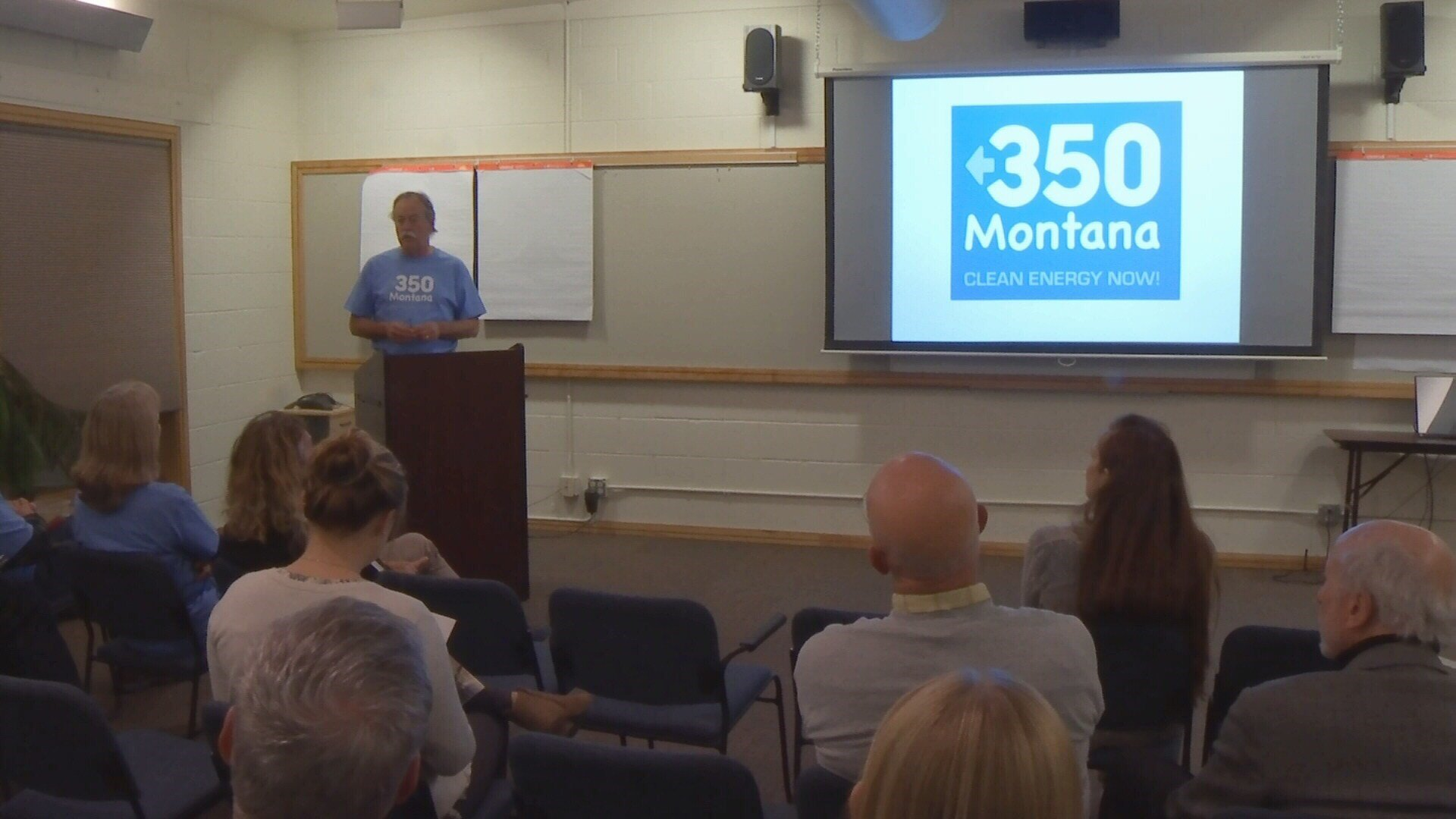 The group 350 Montana envisions a 100% renewable global energy system using wind, water, and solar. (MTN News photo)
