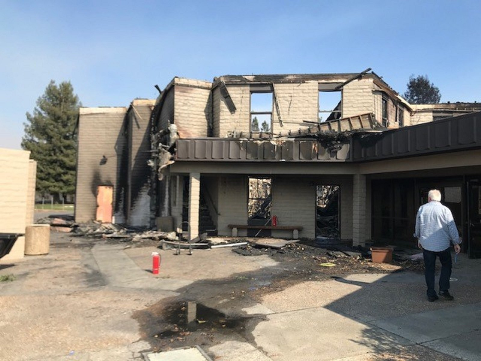 Sonoma County's Anova Center for Education after the North Bay wildfire. (CNN photo)