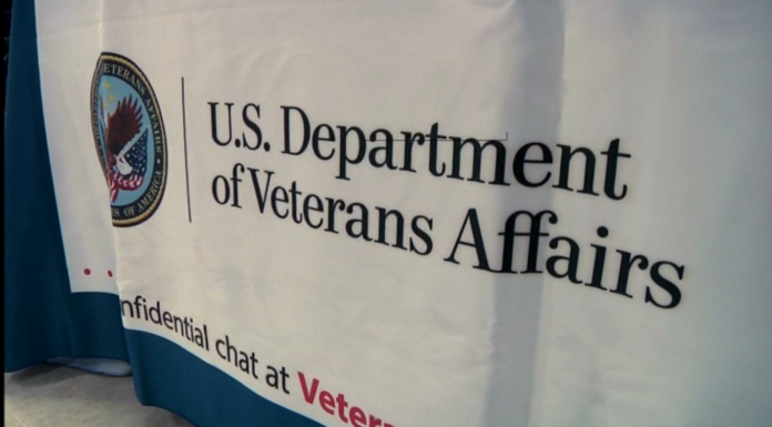 Montana VA Director Kathy Berger addressed dozens of employees, veterans and their families with a detailed overview of the state of the VA.(MTN News photo)