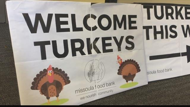 The Missoula Food Bank began their annual Thanksgiving turkey distribution drive on Sunday. (MTN News photo)