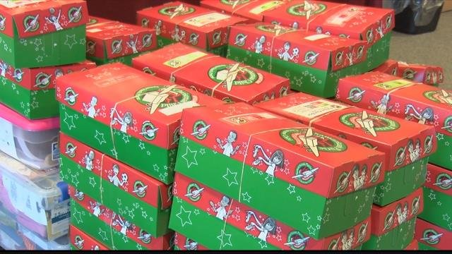 The Missoula area team aimed to collect 10,000 gift boxes as part of an effort to reach 12 million children across the globe. (MTN News photo)