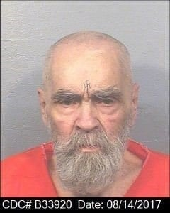 Mug shot from 8/14/17 of Charles Manson ( photo credit: California Dept. of Corrections)