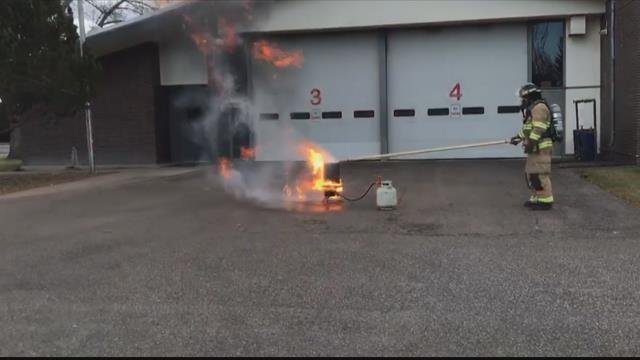Great Falls Fire Rescue hopes the demonstration will helppeople realize the dangers of frying a turkey.