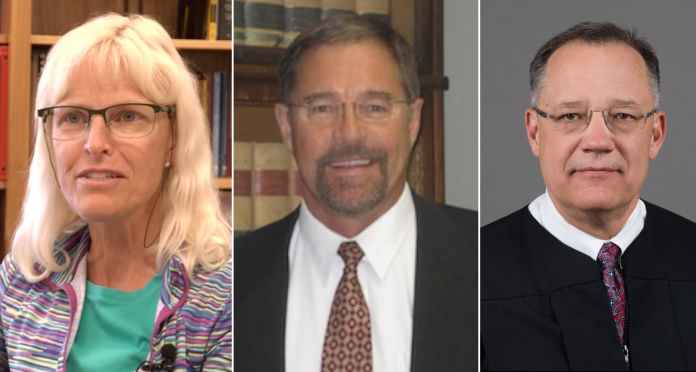Montana Supreme Court candidates (left to right): Ingrid Gustafson, Mike Lamb, Russ McElyea MT SUPCO candidates