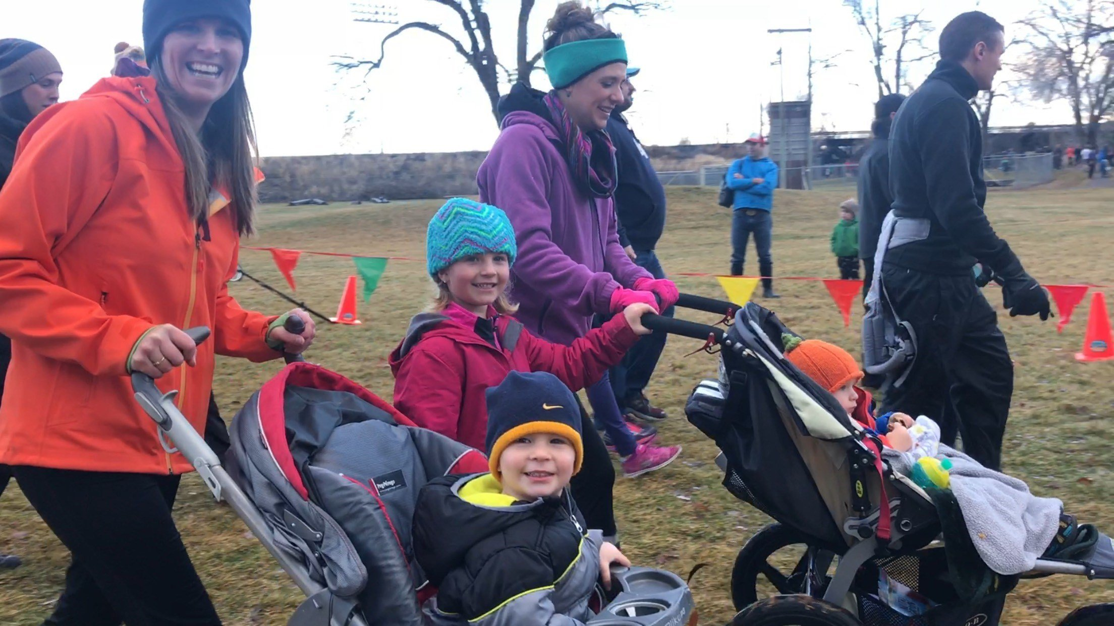 Around 1,500 people participated in Run Wild Missoula's Thanksgiving day event. (MTN News photo)