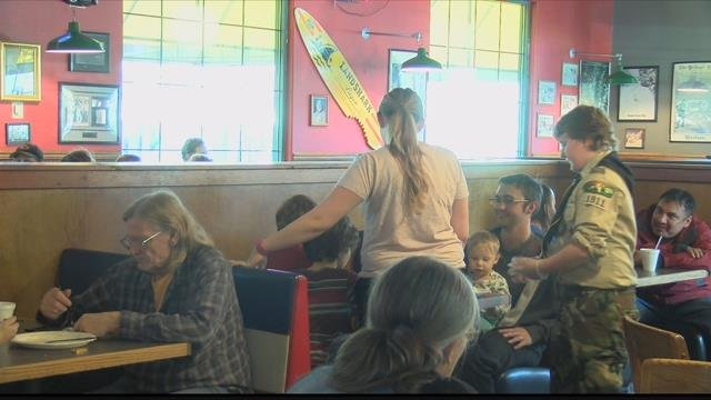An annual tradition continued at one Missoula restaurant on Thanksgiving. (MTN News photo)