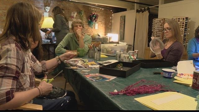 Cancer survivors are finding themselves again as they get lost in their own originality at one Missoula warehouse. (MTN News photo)