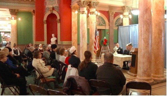 Veterans were honored at the Wreaths Across America ceremony on Monday morning at the Capitol Rotunda. (MTN News photo)