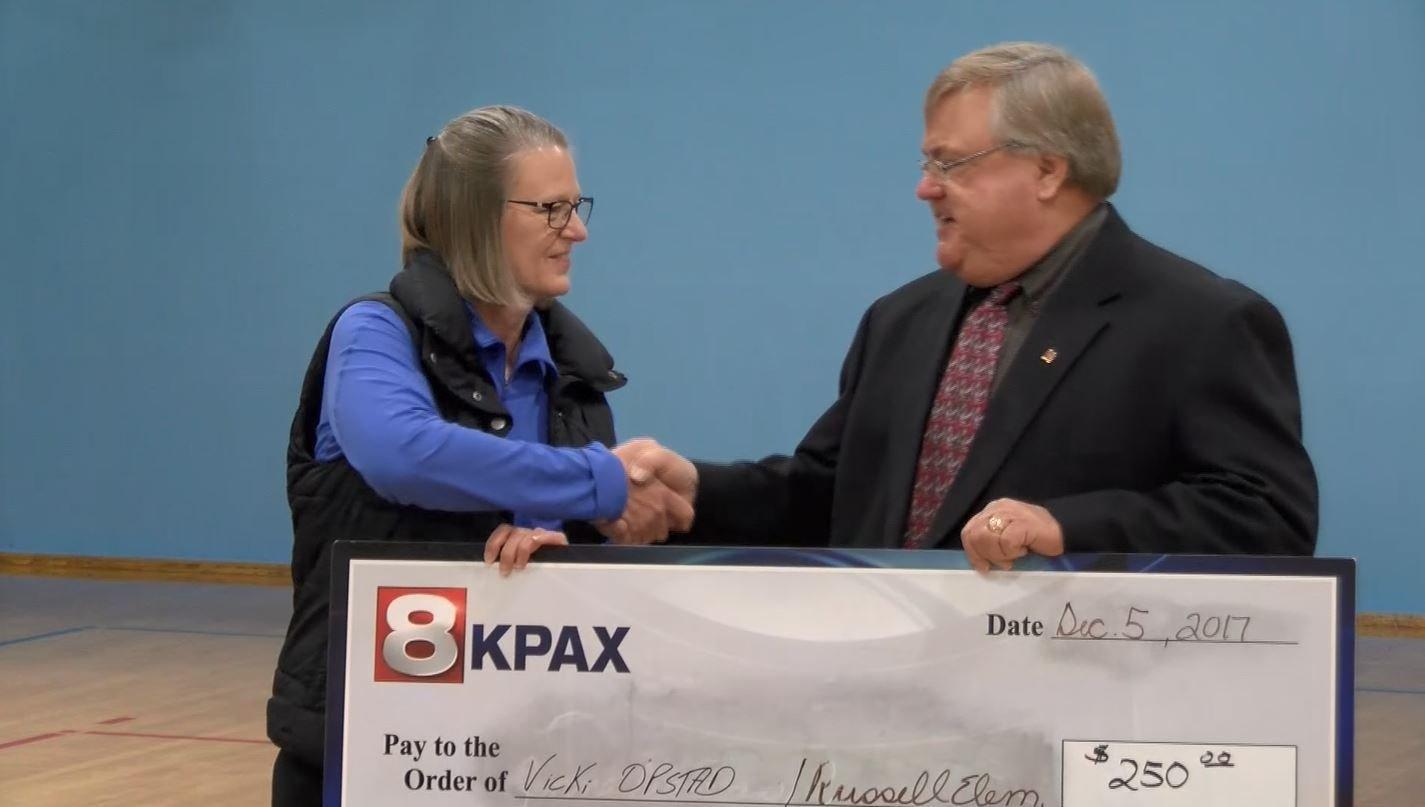This week's One Class at a Time winner is Russell Elementary School teacherVicki Opstad. (MTN News photo)